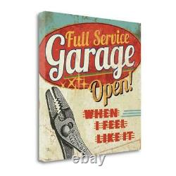 24 x 24 Mancave I Full Service Garage Giclee on Gallery Wrap Canvas