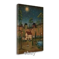 26 x 20 Village Full Moon by Kim Lewis Fine Art Giclee Print
