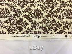 28 Metres Cream/Brown Baroque Printed 100% Cotton Poplin Fabric. (Full Roll)