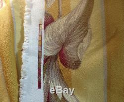 3+ Out Print FULL SWING Vintage Style Banana Bacal Yellow Barkcloth Fabric 54W