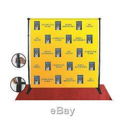 8x8 FT CUSTOM Full Color FABRIC Step Repeat Backdrop Banner Print with Stand