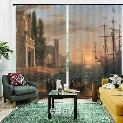 A Ship Full Of Ships 3D Blockout Photo Print Curtain Fabric Curtains Window