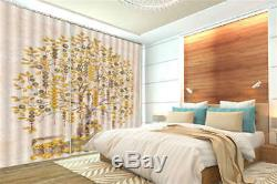 A Tree Full Of Gold 3D Curtain Blockout Photo Printing Curtains Drape Fabric