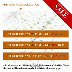 American Home Collection Deluxe 6 Piece Printed Sheet Set of Brushed Fabric, Dee