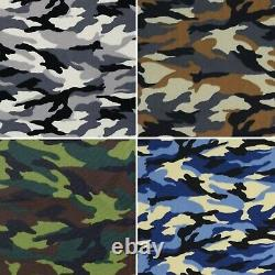 Army Camo Cotton Print Fabric Camouflage 100% Poplin 45 Wide Crafting D#176