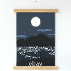 Caracas At Night Venezuela Full Wall Hanging Print and Hanger by Spoonflower