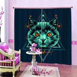 Cats have eyes full of spirituality Printing 3D Blockout Curtains Fabric Window