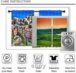 Coffee machine full of fragrance Printing 3D Blockout Curtains Fabric Window
