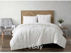 Comforter and Pillow Set Sherpa Fur Fabric with Printed Cable Pattern Full/Queen