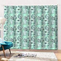 Conch full of beautiful luster Printing 3D Blockout Curtains Fabric Window