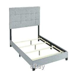 Crown Mark 5270GY-F Florence Platform Bed with Frame, Full Size Gray