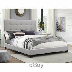Crown Mark Florence Gray Panel Bed (MULTIPLE SIZES)