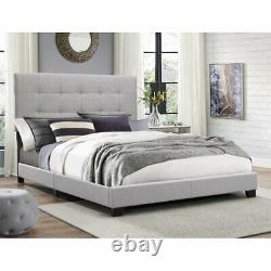 Crown Mark Florence Gray Panel Bed, Multiple Sizes Box spring required