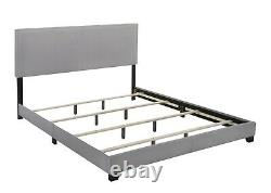 Crown Mark Florence Gray Panel Bed, Multiple Sizes Twin Full Queen King CA King