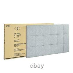 Crown Mark Florence Gray Panel Bed, Size Full, Queen, California King, King, Twin