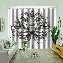 Delicate lotus flower in full bloom Printing 3D Blockout Curtains Fabric Window