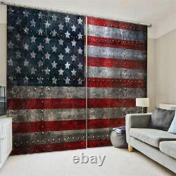 Dirty and irregular flag full dust Printing 3D Blockout Curtains Fabric Window