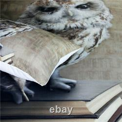 Duvet Cover Microfiber Fabric Bedding Set Owl Animal Bedspreads Twill Style Case