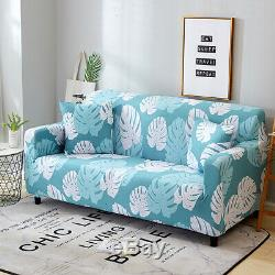 Elastic Couch Slipcovers Floral Printed Sofa Full Cover Decor 1/2/3/4 Seaters