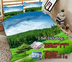 Fabric Degree Wood 3D Printing Duvet Quilt Doona Covers Pillow Case Bedding Sets