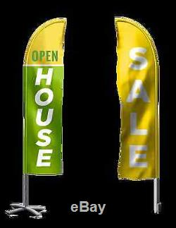 Feather Flags 4/lot Custom Full Color Printing Outdoor or Indoor Fabric Signs