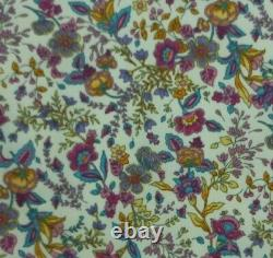 Floral Cotton Printed Fabric Multi Floral 45 Wide Oeko-Tex Crafts Dressing D#78