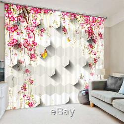Flowers Full Of Wall 3D Blockout Photo Curtain Print Curtains Fabric Kids Window
