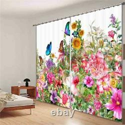 Flowers In Full Bloom 3D Blockout Photo Print Curtain Fabric Curtains Window