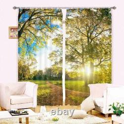 Forest Is Full Of Light 3D Blockout Photo Print Curtain Fabric Curtains Window