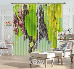 Full Frame Nice Grapes 3D Curtains Blockout Photo Printing Curtains Drape Fabric