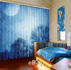 Full Moon That Branch 3D Curtain Blockout Photo Print Curtains Fabric Window