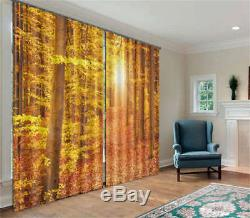 Full Of Afterglow Forest3D Curtain Blockout Photo Printing Curtains Drape Fabric