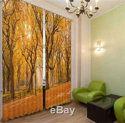 Full Of Autumn Leaves 01 3D Curtain Blockout Photo Print Curtains Fabric Window