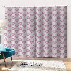 Full and thick pink lovely love Printing 3D Blockout Curtains Fabric Window