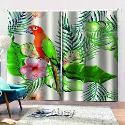 Full beautiful parrot is resting Printing 3D Blockout Curtains Fabric Window
