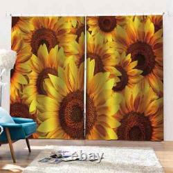 Full neat sunflower in full bloom Printing 3D Blockout Curtains Fabric Window