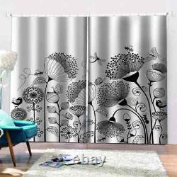 Full of floral simple fragrance Printing 3D Blockout Curtains Fabric Window