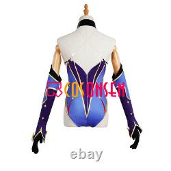 Genshin Impact Mona Cosplay Costume Full Suit with Hat Printed Version