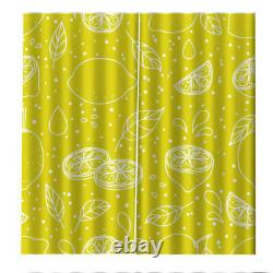Golden full and lovely lemon Printing 3D Blockout Curtains Fabric Window