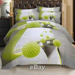 Green Geometry 3D Printing Duvet Quilt Doona Covers Pillow Case Bedding Sets