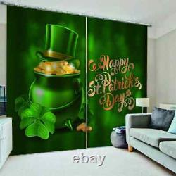 Green jar is full of golden treasure Printing 3D Blockout Curtains Fabric Window