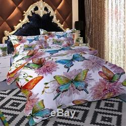 Half Big Butterfly 3D Printing Duvet Quilt Doona Covers Pillow Case Bedding Sets