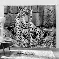Leopard's eyes are full of sadness Printing 3D Blockout Curtains Fabric Window