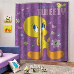 Little yellow duck with full mood Printing 3D Blockout Curtains Fabric Window