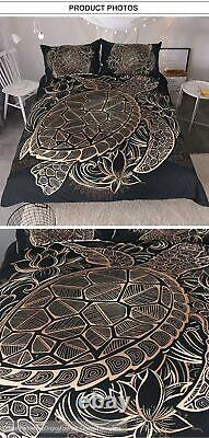 Microfiber Fabric Bedding Sets Turtles Tortoise Bed Cover Twill Style Bed Sheets