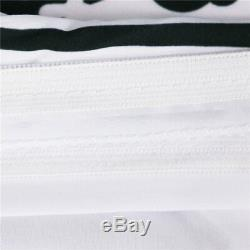 Microfiber Fabric Beddings Set Duvet Cover Owl Print White And Black Bed Clothes