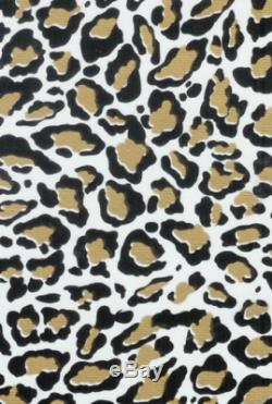 Oilcloth Fabric Animal Print Jaguar Gold Pattern Sold in Yard or Bolt