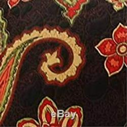 Paisley Pattern Print Twin Quilt Set With Fabric Bound Edges, Multicolor