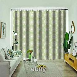Pale green full of fragrant flowers Printing 3D Blockout Curtains Fabric Window