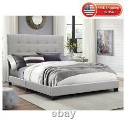 Panel Bed Crown Mark Florence Gray Color Multiple Size 3days Shipping USA